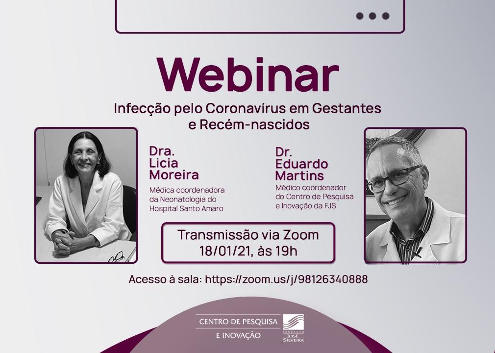 Em transmissão online, Fundação José Silveira discute saúde materno-infantil na pandemia da Covid-19