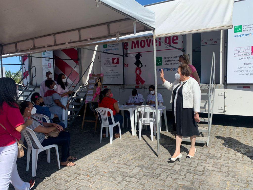Outubro Rosa: Fundação José Silveira realiza atendimentos de saúde em parceria com o Ministério Público da Bahia